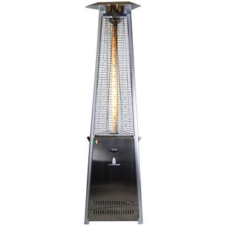 Lava Heat Italia Stainless Steel Liquid Propane Gas Patio Heater with Remote Control