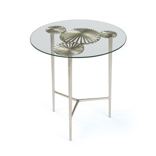 Hip Vintage Alton Clear Glass/Aluminum Side Table