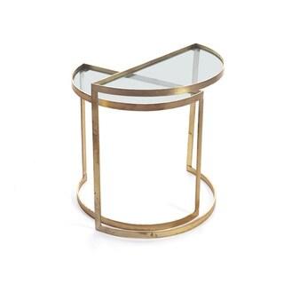 Hip Vintage Mid-century Brass Cairns D Tables