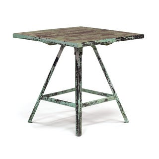 Hip Vintage Distressed Wood Artist's Table