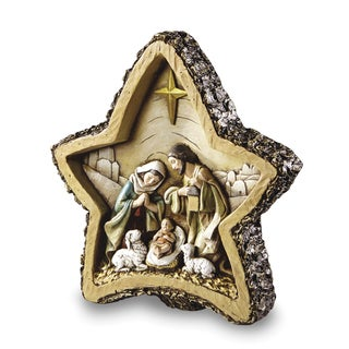 Versil Resin Wood-look Star Nativity