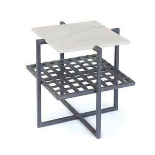 Hip Vintage 20662 Off-White Metallic Finish Maple 20-inch x 20-inch x 20-inch Rawlins Side Table