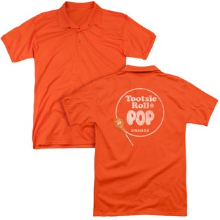 Tootsie Roll/Pop Logo (Back Print) Mens Regular Fit Polo in Orange
