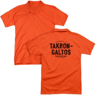 JLA/Takron Galtos (Back Print) Mens Regular Fit Polo in Orange