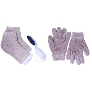 Vintage Home MinxNY Cotton/Polyester/Spandex Spa Gloves and Pedicure Socks Bundle