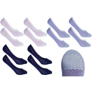 MinxNY Cushion Quilted Ped Socks (6 Pair Bundle)