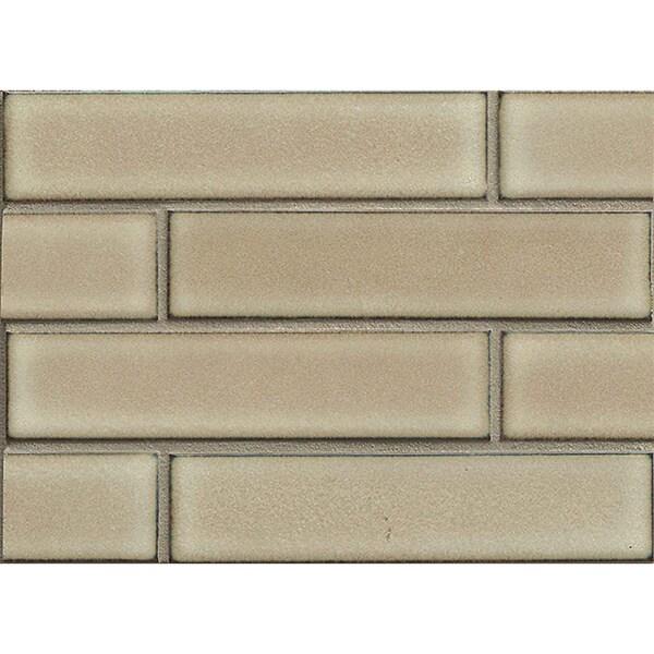 Ceramic Tile Sheets : Shop bedrosians staggered joint mosaic moss porcelain tile