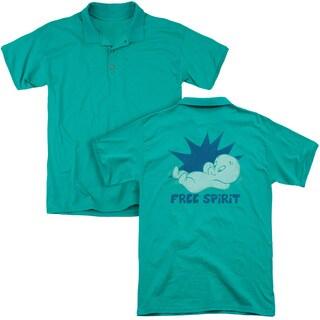 Casper/Free Spirit (Back Print) Mens Regular Fit Polo in Kelly Green