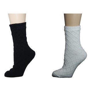 MinxNY Shea Butter Infused Double Layer Socks (2 pairs)