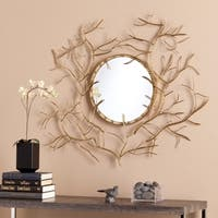 Pine Canopy Nebraska Round Branch Mirror