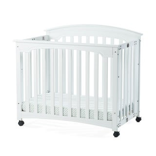 Child Craft Stanford Matte White Mini Folding Crib and Mattress