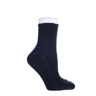 MINXNY Shea-butter-infused double-layer Socks with Chainlink Pattern