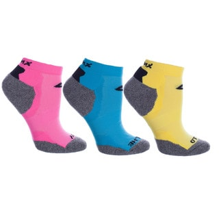 Vintage Home MinxNY Sonic Performance Multicolor Acrylic/Nylon/Polyester Anklet Socks (Pack of 3 Pairs)