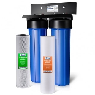 iSpring WGB22B 2-stage NPT Carbon 20-inch Big Blue Whole House Water Filter