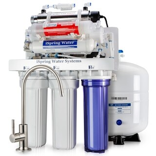 iSpring RCC1UP-AK 7-stage 100GPD Reverse Osmosis Water Filtration System