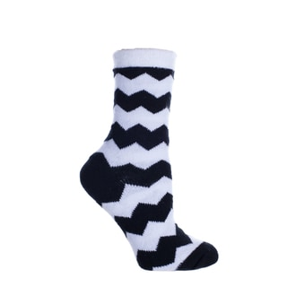 MinxNY Shea Butter Infused Chevron Pattern Double Layer Sock