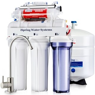 iSpring RCC7AK-UV Under Sink 7-Stage Reverse Osmosis Drinking Water Filtration System with Alkaline Filter and UV Sterilizer