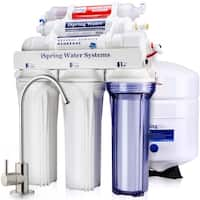 iSpring RCC7AK 6-Stage 75 GPD Residential Under-Sink RO Water System with Alkaline Remineralization, WQA Gold Seal Certified