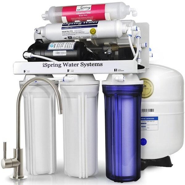 iSpring RCC7P-AK WQA Gold Seal 6-Stage 75-GPD Reverse-osmosis Water Filter System