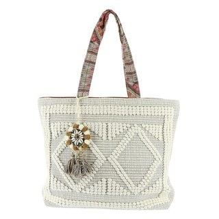 Steven by Steve Madden Zita Embroidered Tote Bag