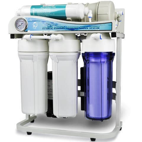 iSpring RCS5T 500-GPD Tankless Dual-flow Commercial 5-stage Reverse Osmosis Water Filter System