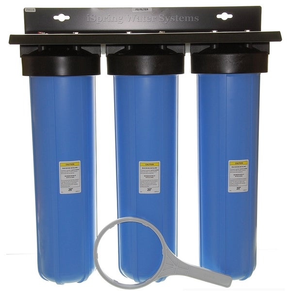 Ispring 3 Stage 20 Inch Big Blue Whole House Water Filter