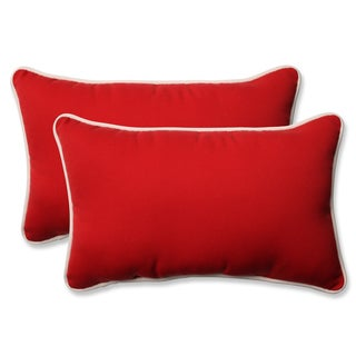 Pillow Perfect Outdoor/ Indoor Americana Red Throw Pillow (Set of 2)