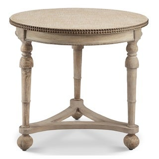 Greystone Mill Stone White Wash End Table Free Shipping