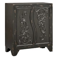 Remy Black Accent Cabinet