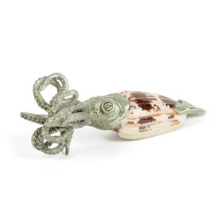 Hip Vintage Green Pewter Squid