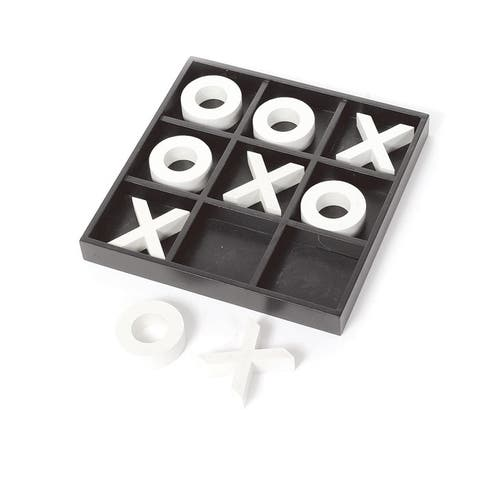 White and Black Wooden Tic Tac Toe