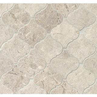 Bedrosians Sebastian Grey Polstone Arabesque Mosaic Tiles (Pack of 10 Sheets)