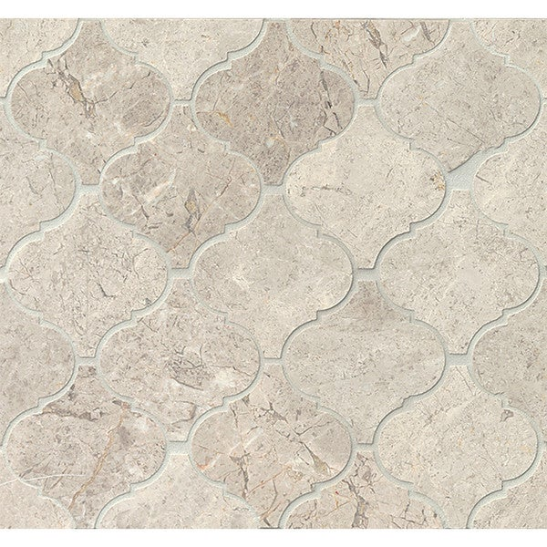 Bedrosians Sebastian Grey Polstone Arabesque Mosaic Tiles Pack of