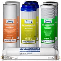 iSpring F8U 6Stage Reverse Osmosis Water Filter Replacement Filter Set