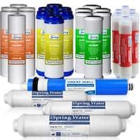 iSpring F28K75 3-year Replacement Filter 28-piece Set for 6-stage Alkaline Reverse Osmosis Water Filter Fits RCC7AK, RCC7PAK