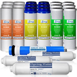 iSpring F22-75 3-Year Replacement Filter Set for 75GPD 5-Stage Reverse Osmosis Water Filter