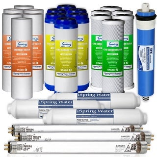 iSpring 3-Year Replacement Filter Set for 6-Stage Reverse Osmosis Water Filter - White