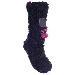 MinxNY Lavender Infused Fuzzy Non-skid Slipper Sock with Phone Pocket