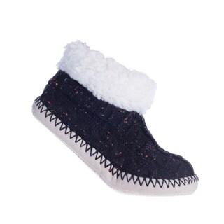 MinxNY Women's Brooklyn Polyester/Acrylic Alpaca Lining Fuzzy Non-skid Booties