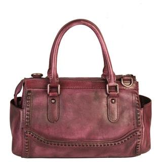 Diophy Grey Leather Double Handles Handbag