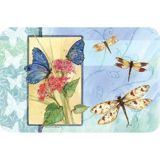 Counterart Reversible Plastic Wipe Clean Placemats - Butterfly Sketchbook (Set of 4)|https://ak1.ostkcdn.com/images/products/11983099/P18864295.jpg?impolicy=medium