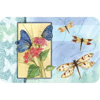 Counterart Reversible Plastic Wipe Clean Placemats - Butterfly Sketchbook (Set of 4)