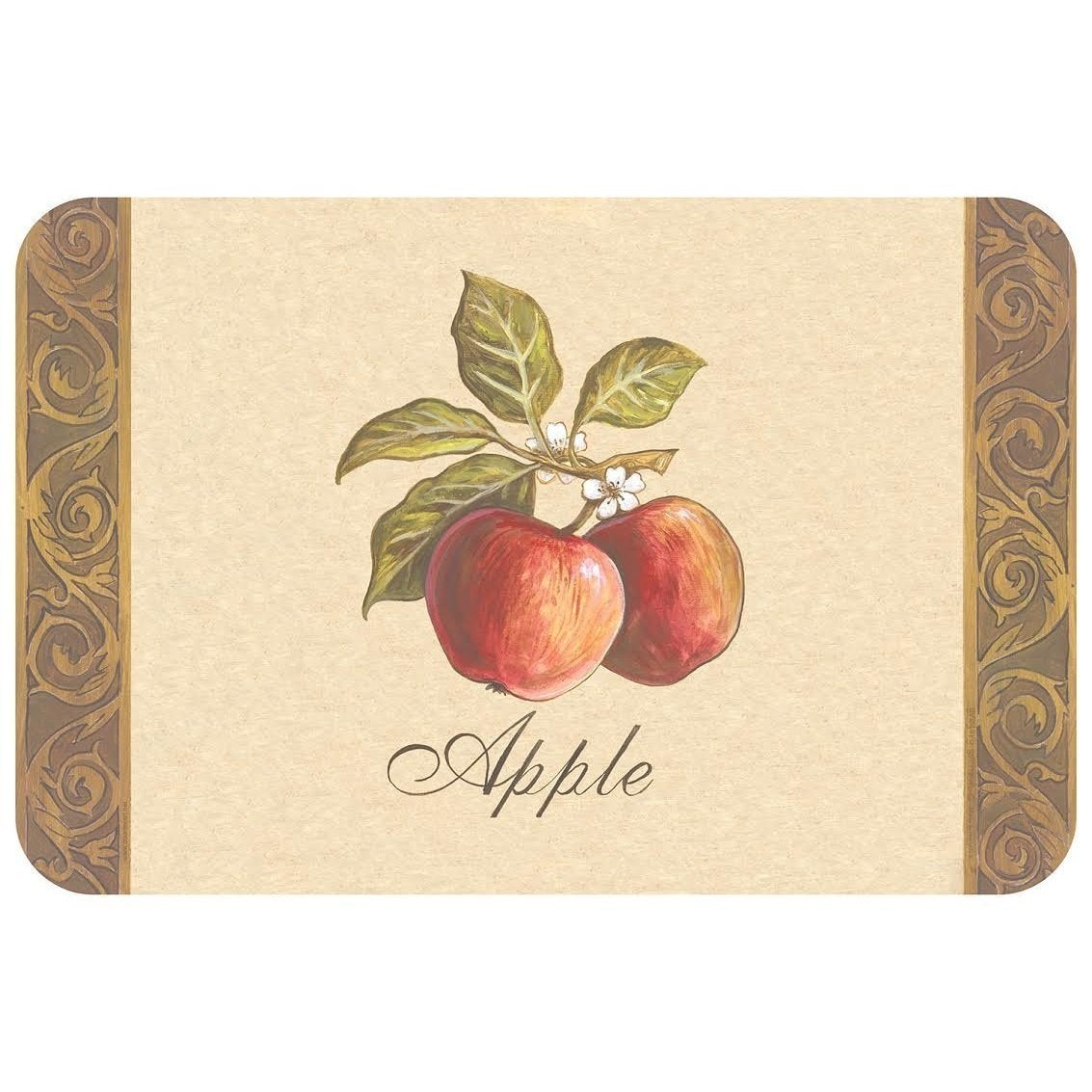 CounterArt Reversible Plastic Wipe Clean Placemats - Heir...