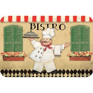 Counterart Reversible Plastic Wipe Clean Placemats - Bistro Chef (Set of 4)