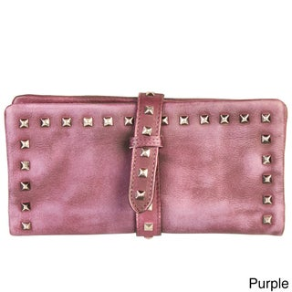 Diophy Genuine Leather Stylish Studded Card Holder Wallet (4 options available)
