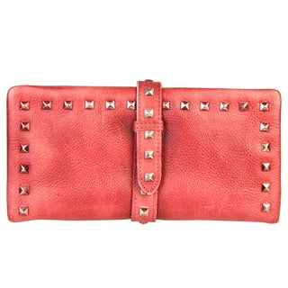 Diophy Genuine Leather Stylish Studded Card Holder Wallet