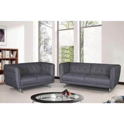 Morden Fabric 2-piece Fabric Sofa and Loveseat Set
