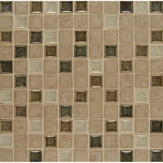 BlissGlass/Stone 12-inch Mosaic Tile (Pack of 10 Sheets)