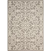 Nourison Linear Silver/Ivory Rug - 3'9 x 5'9