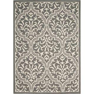 Nourison Linear Grey/Ivory Rug (3'9 x 5'9)